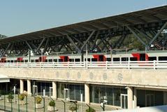 RUSSLAND, SOCHY - 20. SEPTEMBER 2017: Bahnhof im Olympiapark Lizenzfreies Stockbild