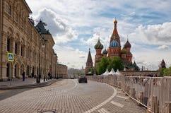 Russland St.-Basilikum ` s Kathedrale auf rotem Quadrat in Moskau 25. Mai 2017 Lizenzfreie Stockbilder