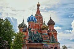 Russland St.-Basilikum ` s Kathedrale auf rotem Quadrat in Moskau 25. Mai 2017 Lizenzfreie Stockfotografie