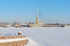 Russland St Petersburg im Winter Lizenzfreies Stockfoto