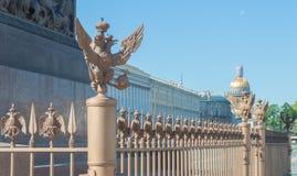 Russland, St Petersburg, am 12. Juni 2017 - der Kaiseradler auf t Lizenzfreie Stockbilder