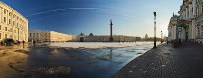 Russland, St Petersburg, am 1. März 2016: Palast-Quadrat im Winter Lizenzfreies Stockbild