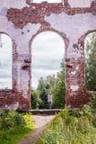 Russland, St Petersburg, Priozersk, im August 2016: Lutherische Kirche von Jaakkima Stockfotografie