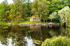 Russland, St Petersburg, Priozersk, im August 2016: Szenische Landschaft im Gebiet Korela-Festungs-Museum Lizenzfreies Stockbild