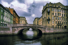 Russland, St Petersburg, Winter-Kanal Stockbilder