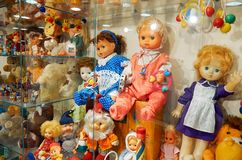 Russland Toy Museum im zentralen Kind-` s Speicher 11. Februar 2018 Stockbilder