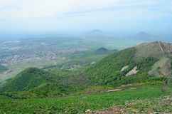 Russland und der Kaukasus Ansicht vom Berg Beshtau Lizenzfreie Stockbilder