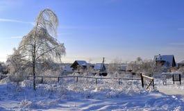 Russland, UralJanuary, Temperatur -33C Lizenzfreie Stockbilder