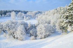 Russland, UralJanuary, Temperatur -33C Stockfotos