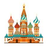 Russland-Vektorkartenillustration Atlas des Handabgehobenen betrages stock abbildung