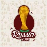Russland-Weltfußballelemente 2018 stock abbildung
