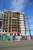 Russland, Yaroslavl- 29. März 2016 Bau des mehrstöckigen Wohngebäudes Stockfotos