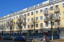 Russland, Yaroslavl- 29. März 2016 Wohngebäude von sowjetischen Zeiten auf Sovetskaya-Straße stockbilder