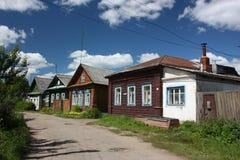 Russland, Yaroslavl Region. Straße in Pereslavl. Stockfotografie
