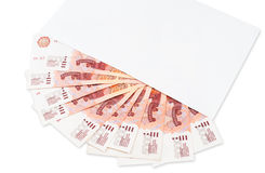 Russo contas de 5000 rublos Foto de Stock Royalty Free