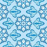 Russo floral sem emenda Gzhel do teste padrão Fotografia de Stock Royalty Free