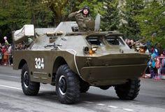 RUSSO, KOZELSK, o 9 de maio de 2017, Victory Day, o 9 de maio Para militares Imagens de Stock