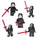 RUSSO, O 15 DE JANEIRO DE 2019 LEGO STAR WARS Mini-figuras de Kylo Ren da saga de Lego Star Wars fotografia de stock