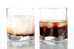 Russo preto e cocktail russian brancos fotografia de stock