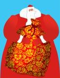 Russo Santa - gene o grande saco da geada dos presentes para crianças S Fotografia de Stock Royalty Free