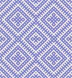 Russo senza cuciture ed ornamento tradizionali fatti dai cerchi in blu Fotografie Stock
