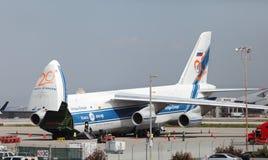 Russo Volga-Dnepr Antonov AN-124 Fotos de Stock Royalty Free