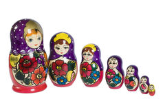 Russuan wood toy. Traditional russian wood toy isolated on white Royalty Free Stock Photo