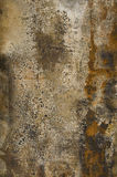 Rust. The painted sheet of iron which has rusted in due course royalty free stock photo