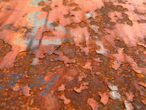 Rust. Red old the metal surface stock photos