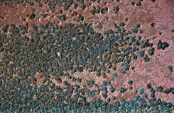 A RUST. ON ZINC WALL Stock Photos