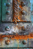 Rust. On the colorful iron plate royalty free stock photography