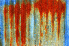 Rust on zinc texture background Royalty Free Stock Images