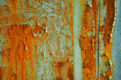 Rust. Metal texture with blue paint and rust Stock Photo