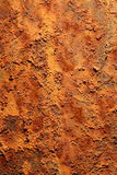 Rust. Close up texture of rust on iron royalty free stock photos