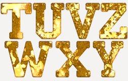 Rust alphabets isolated Stock Photo