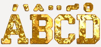 Rust alphabets isolated Stock Images