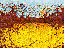 Rust background. Abstract corroded colorful wallpaper grunge background iron rusty artistic wall peeling paint Royalty Free Stock Photos