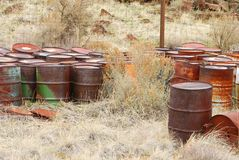 Rust Barrels Stock Image