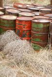 Rust Barrels Royalty Free Stock Image