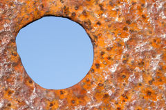 Rust and blue circle. Stock Photography