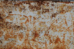 Rust & Blue Grey Background. Rust & Blue Grey grunge background. Rust on metal texture Stock Images