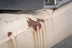 Rust on the car body royalty free stock images