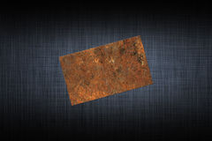 Rust card Stock Image