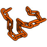 Rust Chain. On transparent Background Royalty Free Stock Photos