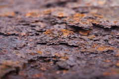 Rust closeup. Structure corrosion, texture Royalty Free Stock Photos