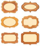 Rust colored label frames Stock Photo