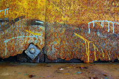 Rust Colors. Colorful grunge background of rusty iron surface with paint stains Stock Photo