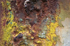 Rust and colours. Eating the metal royalty free stock image