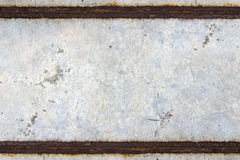 Rust  concrete. Rust on the concrete road Stock Photography