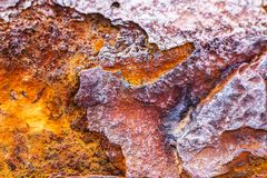 Rust, corrosion, iron metal oxide texture Stock Image